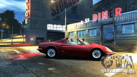 Ferrari Dino 246 GTS для GTA 4 вид сзади слева