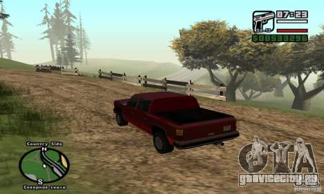 Rancher 4 Doors Pick-Up для GTA San Andreas вид сзади слева
