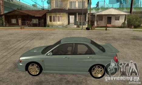 Subaru Impreza 2002 Tunable - Stock для GTA San Andreas вид сзади слева