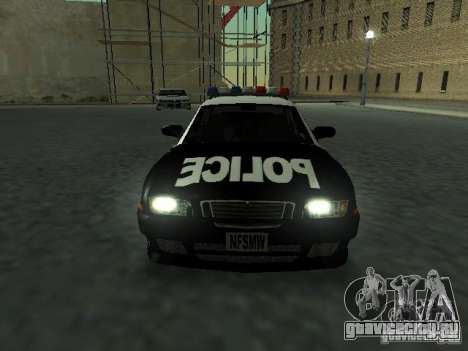 Police Civic Cruiser NFS MW для GTA San Andreas вид сзади