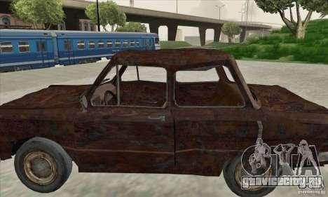 ЗАЗ 968 Заброшенный v.2 для GTA San Andreas вид сзади слева