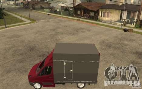Volkswagen Crafter Case Closed для GTA San Andreas вид слева