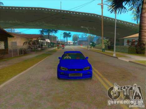 Nissan Skyline GT-R R34 from FnF 4 v.2.0 для GTA San Andreas вид справа