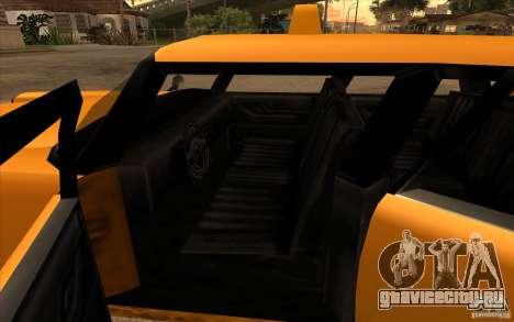 Glendale Cabbie для GTA San Andreas вид сзади слева