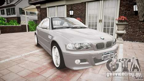 BMW M3 e46 v1.1 для GTA 4 вид сзади