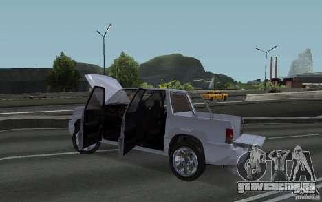 Cavalcade FXT из GTA 4 для GTA San Andreas вид сзади