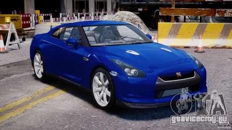 Nissan Skyline GT-R R35 для GTA 4 вид сзади