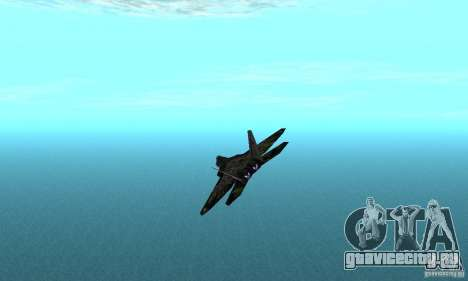 F-22 Raptor Graffity Skin 2 для GTA San Andreas вид сзади слева