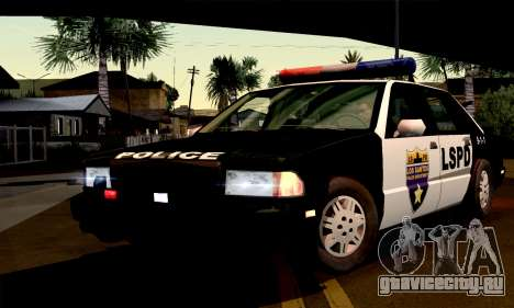 New Police LS для GTA San Andreas вид справа