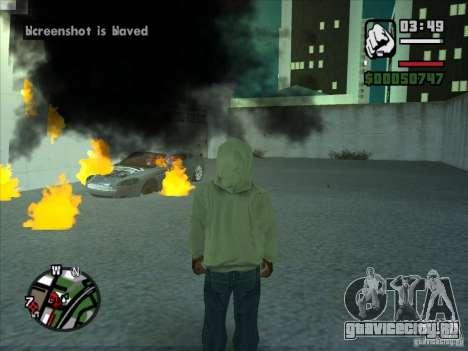 Дым из под колес, как в NFS ProStreet для GTA San Andreas четвёртый скриншот