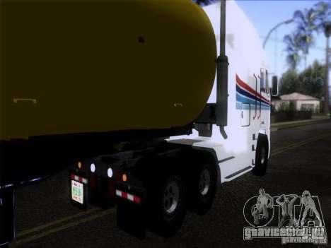 Freightliner Argosy Skin 3 для GTA San Andreas вид сзади слева