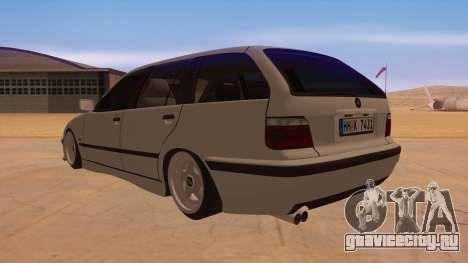 BMW M3 E36 Touring для GTA San Andreas вид сзади слева