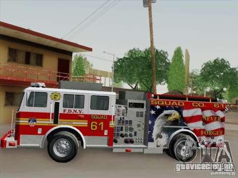 Seagrave Marauder. F.D.N.Y. Squad 61. для GTA San Andreas салон