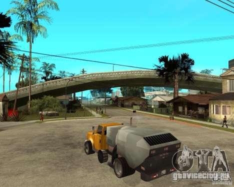 Уборочный грузовик для GTA San Andreas вид слева