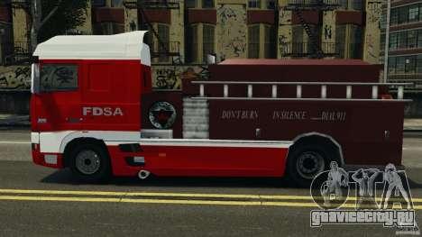 DAF XF Firetruck для GTA 4 вид слева