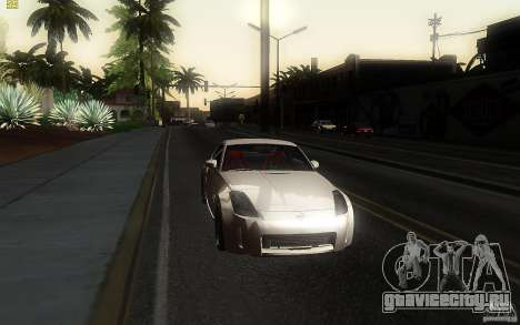 Nissan 350z Speedhunters для GTA San Andreas вид сзади