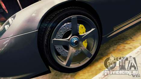 Porsche Carrera GT для GTA 4 вид сбоку