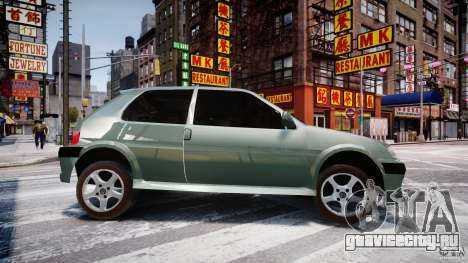 Peugeot 106 Quicksilver для GTA 4 вид слева