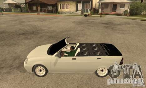 ВАЗ Лада Приора кабриолет для GTA San Andreas вид слева