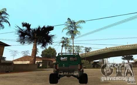 УАЗ Буханка hard off-road для GTA San Andreas вид сзади слева