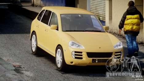 Porsche Cayenne S 2008 для GTA 4 вид сзади