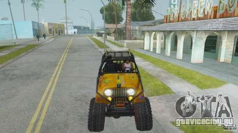 Jeep CJ-7 4X4 для GTA San Andreas вид сзади