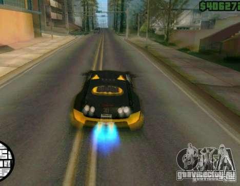 Bugatti Veyron Super Sport final для GTA San Andreas вид сзади