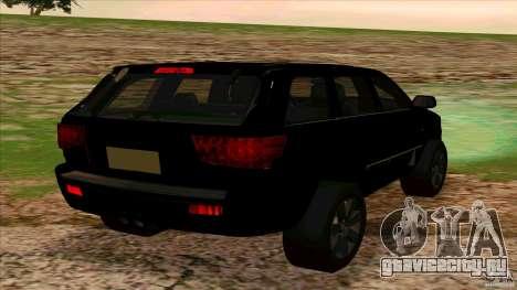 Dodge Durango 2012 для GTA San Andreas вид сзади слева