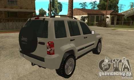 Jeep Liberty 2007 Final для GTA San Andreas вид справа