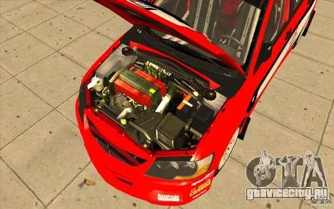 Mitsubishi Lancer Evo IX DiRT2 для GTA San Andreas вид сверху
