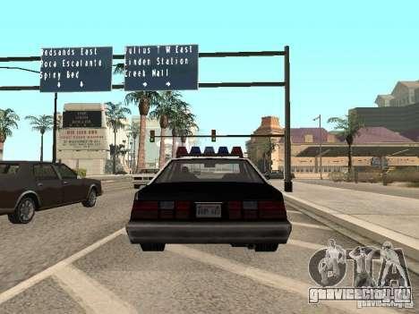 LVPD Police Car для GTA San Andreas вид сзади слева