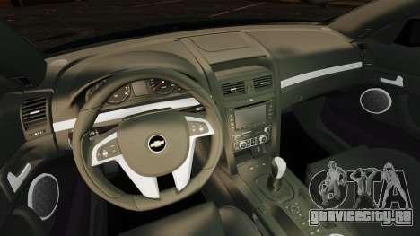 Chevrolet Lumina 2009 Mr. Bolleck Edition для GTA 4 вид изнутри