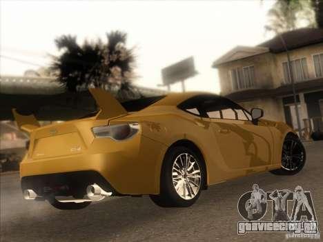 Toyota GT86 2012 для GTA San Andreas вид слева