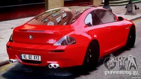 BMW M6 Orange-Black Bullet для GTA 4 вид сверху