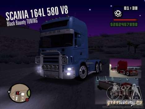 Scania 164L 580 V8 Black Beaunty для GTA San Andreas