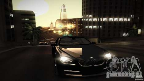 BMW 640i Coupe для GTA San Andreas вид снизу