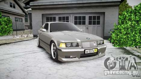 BMW E36 328i v2.0 для GTA 4 вид изнутри