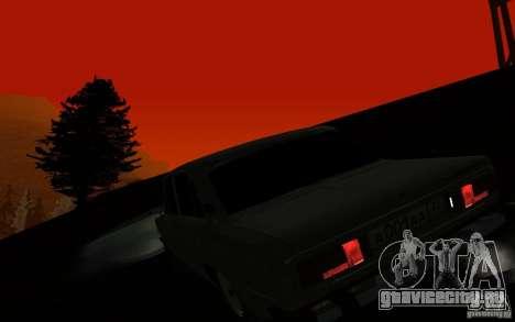 ВАЗ 2106 Тюмень для GTA San Andreas вид изнутри