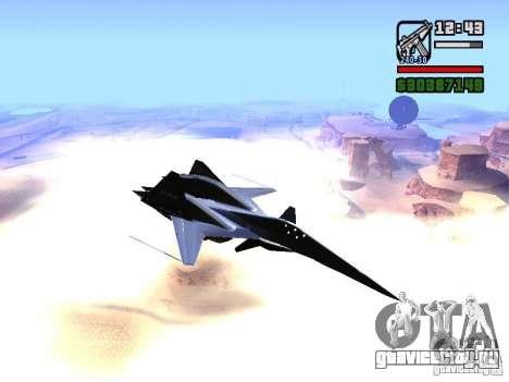 ADF01 Falken для GTA San Andreas вид сзади