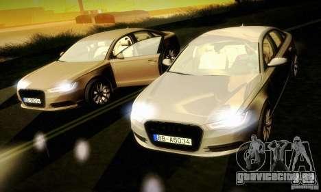Audi A6 2012 для GTA San Andreas вид сбоку