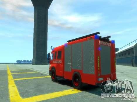 Mercedes-Benz Atego Fire Departament для GTA 4 вид сзади слева