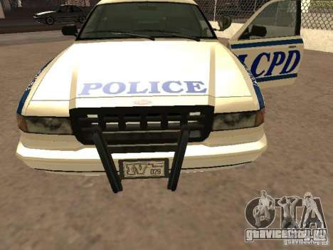 Полиция из гта4 для GTA San Andreas вид сбоку