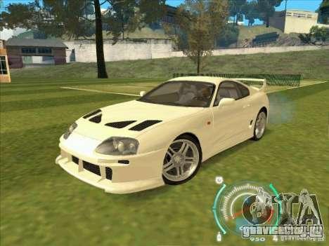 Toyota Supra from 2 Fast 2 Furious для GTA San Andreas вид слева