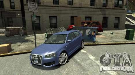 Audi S3 2006 v1.1 не тонированая для GTA 4 вид сзади слева