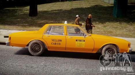 Chevrolet Impala Taxi v2.0 для GTA 4 вид сбоку