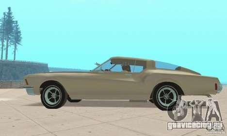 Buick Riviera 1972 Boattail для GTA San Andreas вид сзади слева