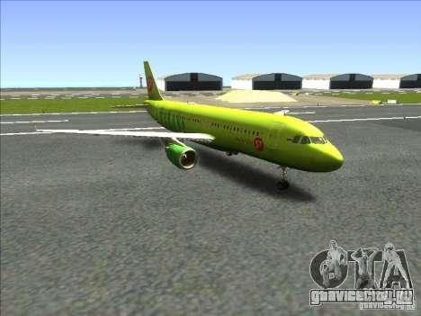 Airbus A-320 S7Airlines для GTA San Andreas вид сзади слева