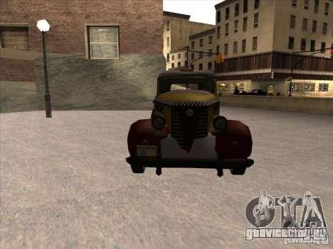 Shubert TAXI из MAFIA 2 для GTA San Andreas вид сзади
