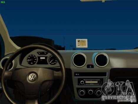 Volkswagen Voyage Comfortline 1.6 2009 для GTA San Andreas вид сзади