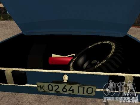Москвич 412 - 4x4 для GTA San Andreas вид изнутри